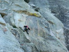 Rock Climbing Photo: The beginning of The Flakes