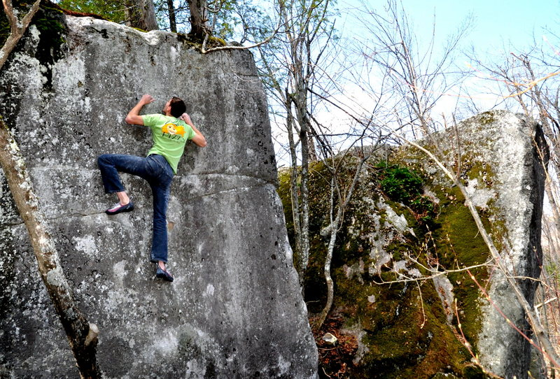 Rock Climbing Photo: holds keep breaking on this thing, but this is wha...