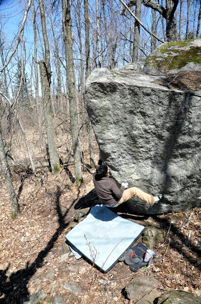 Rock Climbing Photo: this is the starting position of The Onion