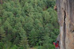 Rock Climbing Photo: Jay on Edge of the World. Photo by Ladd Raine.
