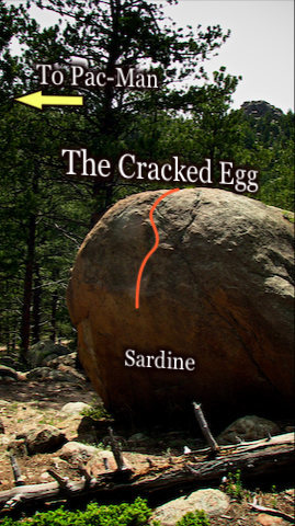 """Photo beta for """"Sardine.""""  Located on the East face of """"The Cracked Egg."""""""
