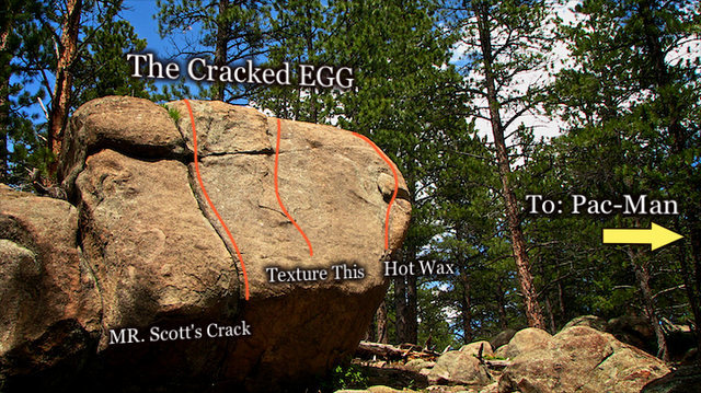 "Photo beta for the South face of ""The Cracked Egg."""