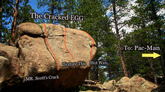 """Rock Climbing Photo: Photo beta for the South face of """"The Cracked..."""