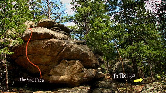 Rock Climbing Photo: The Sad Face boulder.  So cool!!!