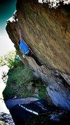 "Rock Climbing Photo: Luke Childers climbing ""Wisdom."""