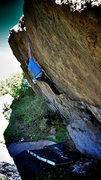 "Rock Climbing Photo: Luke Childers on the opening moves of ""Wisdom..."
