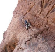 Rock Climbing Photo: Steve starting the first pitch.