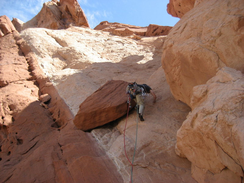 Rock Climbing Photo: Steve starting pitch three