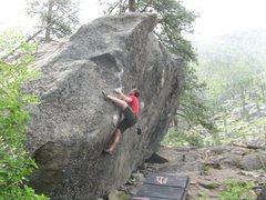 Rock Climbing Photo: v3 approach