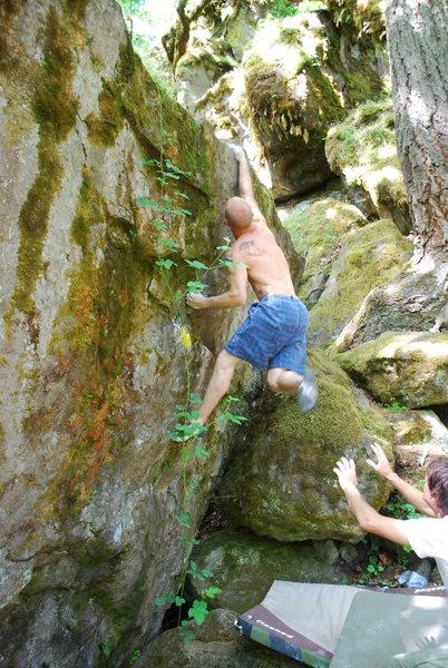 Rock Climbing Photo: super fun throw to the top