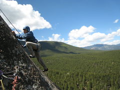Rock Climbing Photo: Starting up P3, with perhaps the Castle in the bac...