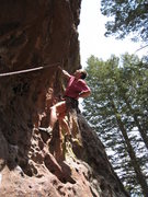 Rock Climbing Photo: Starting up on Back in Slacks, at the end of the f...