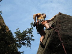 Rock Climbing Photo: Just past the 2nd bolt of Coming Attractions.  Not...