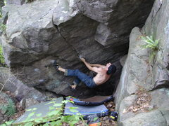 Rock Climbing Photo: The start, hard!