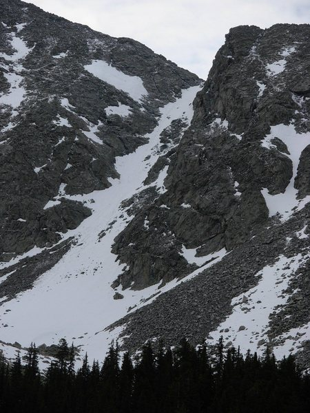 Approach couloir from Como Lake.