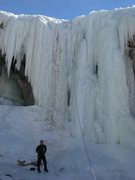 Rock Climbing Photo: Getting ready for the prominent ice chimney off of...