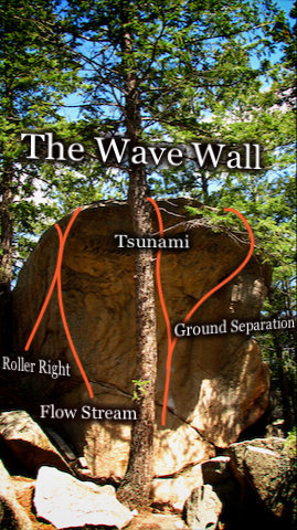 "Photo beta for ""The Wave Wall.""  ""The Eggs"" area.  Three Sisters Park, Colorado."