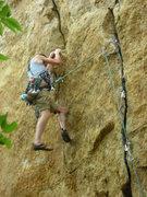 Rock Climbing Photo: holding the swing