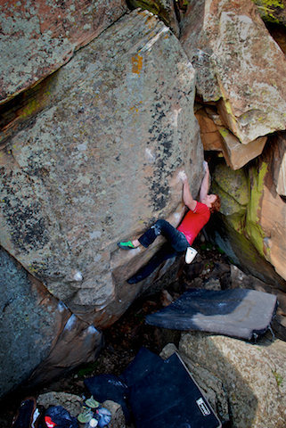 """Luke Childers on another day enjoying the beauty of """"Rupture."""""""