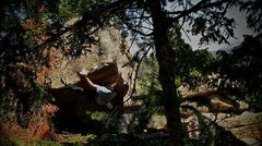"Rock Climbing Photo: Luke climbing ""Prince Charles."""