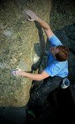 "Rock Climbing Photo: Luke sending ""Scurvy."""