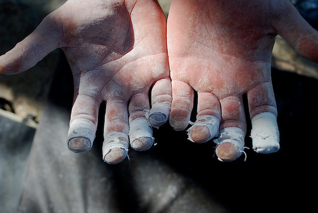 "Wiley's hands after sending the classic ""Pac-Man."""