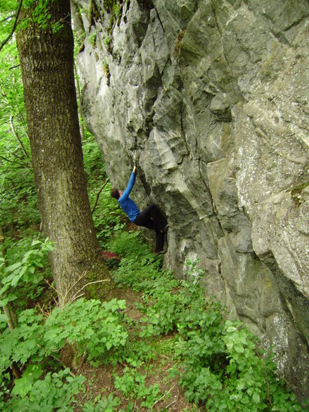Marc-Andre setting up for the dyno on the Traverse in the Woods
