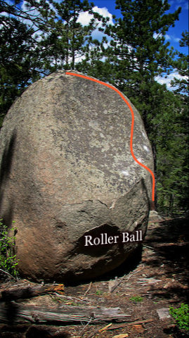 "Rock Climbing Photo: Photo beta of ""Roller Ball"" A.K.A. &quot..."
