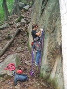 Rock Climbing Photo: Tim Starting the lead