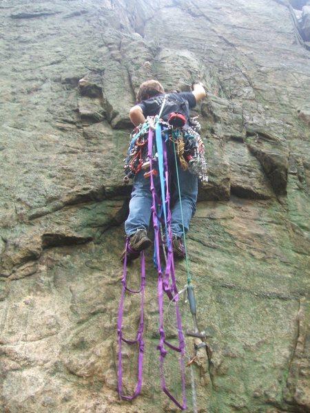 Rock Climbing Photo: halfway up