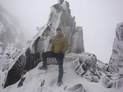 Rock Climbing Photo: Me at the saddle