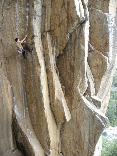 Rock Climbing Photo: Doing it on gear is the way to go and it isnt runo...