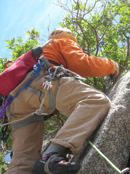 Rock Climbing Photo: At the beginning of the 2nd pitch