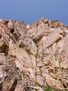 Rock Climbing Photo: Myself belaying atop the final bit of P2 and under...