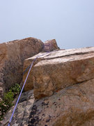 Rock Climbing Photo: Looking up P4 which was the steepest and best on t...