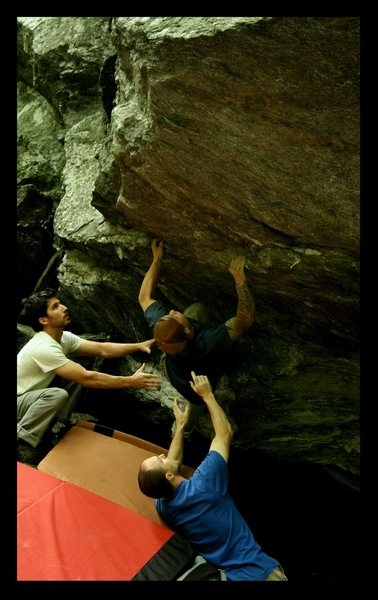Rock Climbing Photo: Green Mnt Gringo v5