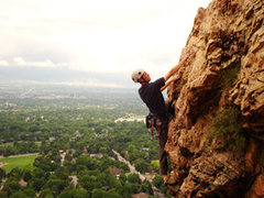 Rock Climbing Photo: After pulling the roof (without sitting on the hor...