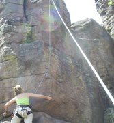 Rock Climbing Photo: Climbing Tenacious on North Table Mtn