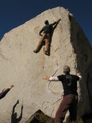 Rock Climbing Photo: Reaching for the sidepull