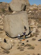 Rock Climbing Photo: Jedi Boulder.  Honey boulder in background, Lidija...