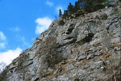 Rock Climbing Photo: Polney Main Cliff left section