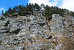 Rock Climbing Photo: Polney Main Cliff Central section