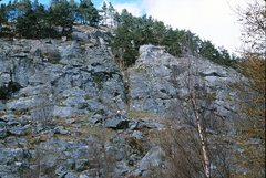 Rock Climbing Photo: Polney Main Cliff right section