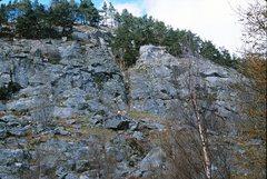 Rock Climbing Photo: Polney Main Cliff right section