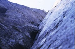 Rock Climbing Photo: Looking up the steep corner of Left Hand Crack