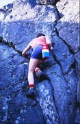Rock Climbing Photo: Getting established on the halfway ledge of The Tr...