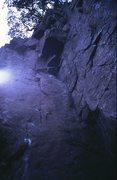 Rock Climbing Photo: Carnmore Corner - the line of the crag