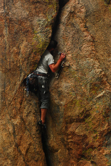Rock Climbing Photo: Saying No to Big Bros.