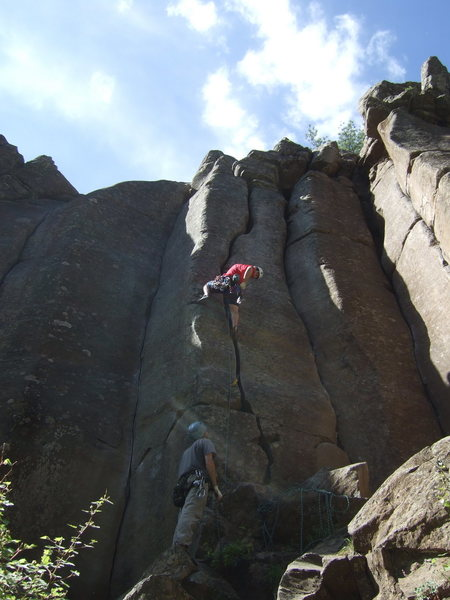"Rock Climbing Photo: Dan on ""Pillow Talk"""