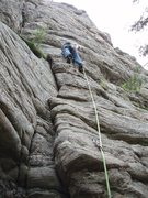Rock Climbing Photo: Before you move right....